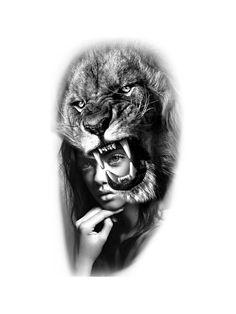 Large Animals, Female Portrait, Black And Grey, Tattoo Designs, Sketch, Tattoos, Drawings, Instagram, Ideas