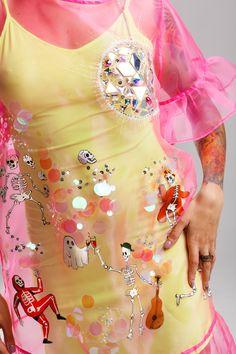 Halloween Dress, Halloween Outfits, Fairytale Fashion, Pink Skull, Unique Dresses, Fashion Show, Fashion Design, Club Dresses, Festival Outfits