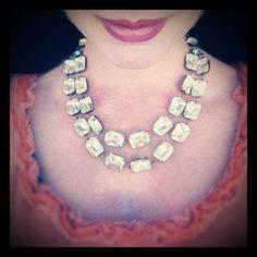 WOW!! Love this! Vintage Rhinestone Statement Necklace Wedding Bride by RewElliott..