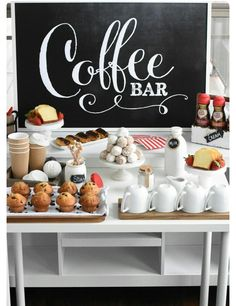 Easy and lovely coffee bar that you cannot yes do with decaf for tweens too