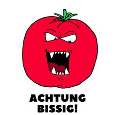 Achtung, Bissig. Diese Tomate isst bestimmt keiner. Vintage T-shirts, Illustration, Darth Vader, Fictional Characters, Drawing Hands, Drawing S, Illustrations