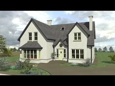 House Designs Ireland, Dormer Bungalow, Ireland Homes, Traditional House Plans, House Extensions, Home Design Plans, Types Of Houses, House Front, Log Homes