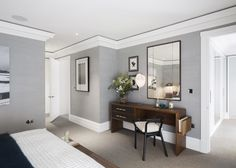 The Russell, Covent Garden by Tamiko Onozawa and Sophie Ashby from the London based design studio Spring and Mercer Sweden House, Apartment Chic, Covent Garden, Dream Decor, Grey Walls, New Room, Beautiful Bedrooms, Colorful Interiors, Interior Inspiration