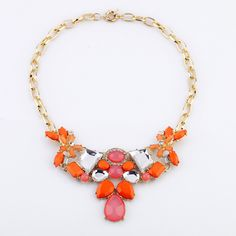 Cheap necklace jewelry design, Buy Quality necklace jewelry stand directly from China jewelry choker necklace Suppliers:Production:New Designer 2013 Fashion jewelry Gold Color Orange Water Drop Pendant Necklac