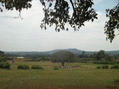 Outside of a school in Uganda, Africa