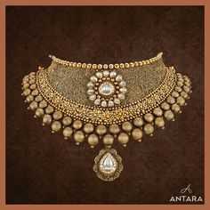 Gold Ring Designs, Gold Earrings Designs, Gold Jewellery Design, Gold Jewelry, Jewelry Sets, Jewelry Stores, Necklace Set, Gold Necklace, Antara