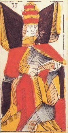 II la Papessa | Tarocco Vieville (XVII sec)