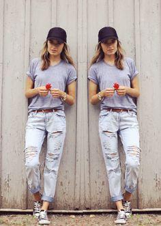 How to Wear Boyfriend Jeans | StyleCaster