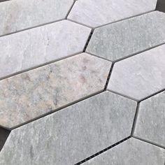 Our Mini Kite Marble Mosaic in Pearl Jade. #featuretiles #mosaictiles #marblemosaics #marbletiles #bathroomtiles #kitchentiles #marblemosaicbacksplash #marblemosaicsplashback Honed Marble, Marble Mosaic, Feature Tiles, Tile Floor, Flooring, Texture, Mini, Surface Finish, Tile Flooring