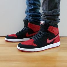 online store 1ee9e c7b6f Go check out my Air Jordan 1 Retro High Flyknit Banned Bred 2017 on feet  channel link in bio.