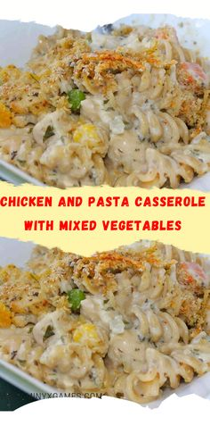 Easy To Cook Meals, One Pot Meals, How To Cook Pasta, Casserole Recipes, Pasta Recipes, Chicken Recipes, Dinner Recipes, Chicken Pasta Casserole, Chicken Tenderloins