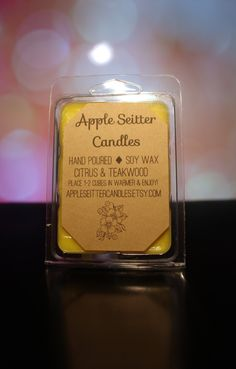 All Natural Citrus & Teakwood Soy Wax Melt by AppleSeitterCandles on Etsy