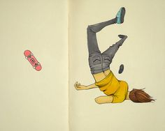 As much as I wish I could skate board, this would most likely be me...