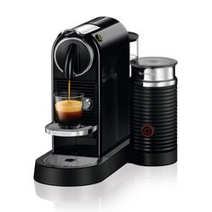 Make the perfect cup of authentic and delicious espresso with the Nespresso Citiz Espresso Maker with Milk Frother. The machine creates freshly brewed coffee and adds a generous amount of crema for your pleasure. Machine A Cafe Expresso, Espresso Coffee Machine, Espresso Maker, Coffee Maker, Coffee Shop, Single Serve Coffee, Best Espresso, Grand Cru, Best Coffee