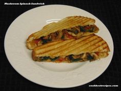 Mushroom Spinach Sandwich, serves breakfast or dinner with the sandwiches that are healthy and tasty recipe. Good Food, Yummy Food, Spinach, Sandwiches, Stuffed Mushrooms, Tasty, Dinner, Cooking, Healthy