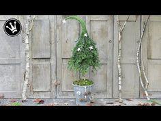 Tutorial - Tannenbaum mit Zipfelmütze I aus Naturmaterial I Winterdeko - YouTube
