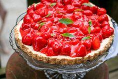 Hazelnut Tart with Fresh Strawberries