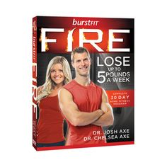 Dr. Axe BurstFit Fire exercise dvds.  3 Different Levels of Intensity for 20 minutes a day.