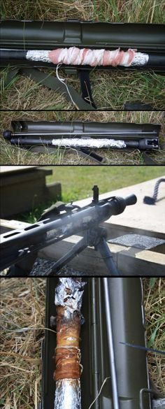 How to cook bacon with a machine gun