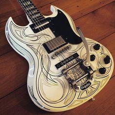 Gibson 89 sg ratrod pinstripe sg