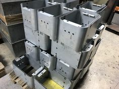 Looking for a supplier of sheet metal fabrications, please contact V and F Sheet Metal at www.vandf.co.uk for a quick quote. Sheet Metal Work, Sheet Metal Fabrication, Quick Quotes, Metal Box, Metal Working, Projects, Sheet Metal, Metal Projects, Log Projects