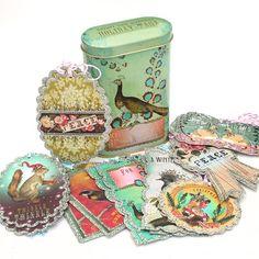 Tin of 24 Glittered Winter Season Gift Tags