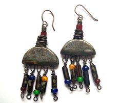 OH YEAAAAHH - LOVE these!! Rustic Earthy. Bohemian Scorched Earth Dangle by SheFliesAgain, $35.00
