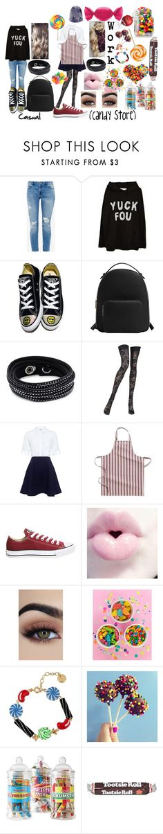 """""""Tara Camille (Casual and Work)"""" by lord-nightshade ❤ liked on Polyvore featuring Ted Baker, Converse, MANGO, Swarovski, Pierre Mantoux, Paul & Joe Sister, Williams-Sonoma and Lindt"""