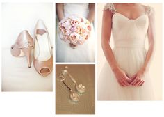 Red Velvet Occasions: Glamorous Blush and Cream Inspiration Board