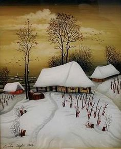 by Zvonko Sigetic Landscape Art, Winter Landscape, Fairytale House, Art Pictures, Photos, Country Art, Naive Art, Jolie Photo, Winter Art
