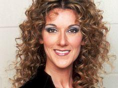Celine Dion curly hair