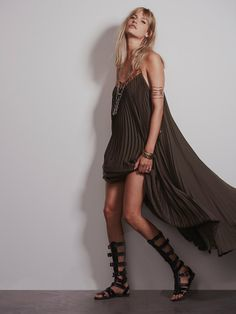 Free People Pretty in Pleats Dress, $168.00