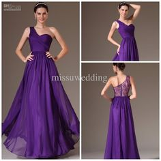 Wholesale Evening Dresses - Buy 2014 New Arrival One Shoulder A Line Floor Length Chiffon Sexy Long Lace Look Prom Gowns Formal Evening Dress Plus Size Pageant Dress Party, $113.64 | DHgate