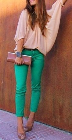 summer outfits  Color-Block Fashion By Alena Gordon