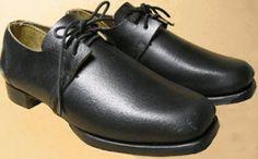 Men's High-Top Button-Up Shoes - Black