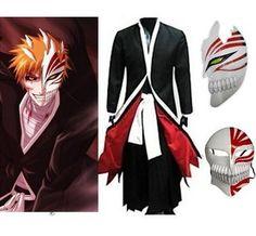 HOLRAN Bleach Kurosaki Ichigo Full Set Cosplay Costume Size Small - http://fancydresscostumeshq.com/costumes-accessories/holran-bleach-kurosaki-ichigo-full-set-cosplay-costume-size-small-com/