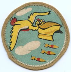BEING RESEARCHED WWII Patch USAAF Bomb Squad in 387th Bomb Grp? NOT FOR SALE UNTIL IDed
