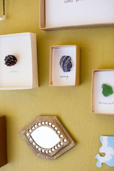 When I was in Morocco a couple of years ago, I noticed the sweetest little handmade specimen boxes in some of the shops.  They would be displaying teeth or something equally as absurd in a simple wooden or cardboard box, with a layer of cling wrap over the top as pseudo glass.  The objects displayed …