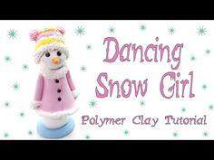Dancing Snow girl- Polymer clay Tutorial - YouTube
