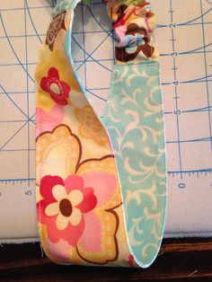 Yellow-Blue Floral Headband on Etsy, $5.00