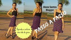 Aprenda a costurar saia rabo de peixe Alana Santos Blogger