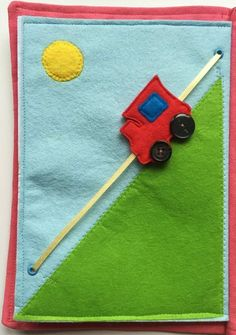 Items similar to Quiet Book - Personalized Gift - Busy Book - Task Book - Felt Book - Felt Train - Toy Train - Toddler Task Book on Etsy Diy Quiet Books, Baby Quiet Book, Felt Quiet Books, Quiet Book For Toddlers, Book Activities, Toddler Activities, Activity Books, Quiet Book Patterns, Fidget Quilt