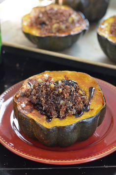 Quinoa-Stuffed Acorn Squash with Figs and Sage - Coffee & Quinoa