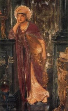 Heliogabalus, High Priest of the Sun. Artist, Simeon Solomon. 1866
