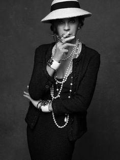 Carine Roitfeld. Chanel (The Little Black Jacket). Photograph: Karl Lagerfeld, 2011.