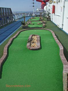 Mini golf on the ship!