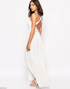 A simple maxi dress is a great piece for layering, and the flowy layers will keep you cool even if the temperatures start to rise. Warehouse Cross Back Maxi Maxi Robes, Chiffon Maxi Dress, Sheer Chiffon, Maxi Dresses, Dresses For Less, Dresses For Sale, Formal Dresses, White Wedding Dresses, Bridesmaid Dresses