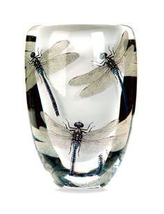 'libelle Art-Glass Sculpture by Norwegian artist Cathrine Maske ♥ Sea Glass Art, Stained Glass Art, Fused Glass, Vases, Cristal Art, Dragonfly Decor, Glass Ceramic, Sculpture, Metal