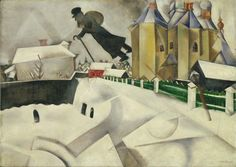 """Marc Chagall's """"Over Vitebsk"""" is a major source of inspiration for Esther Finkel as she grapples with her dreams of becoming an artist in the Montreal of the late 1930s in Sara's Year, award-winning Book I of The Sara Stories by Mark David Gerson • http://www.markdavidgerson.com/books/sarasyear • http://www.thesarastories.com"""