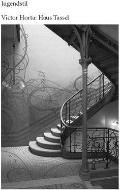 jugendstil architectuur ... stairwell and stair rails